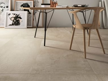 Porcelain stoneware wall/floor tiles with concrete effect with resin effect FAWN CORE