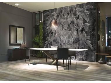 Papel de parede de tecido estilo moderno FAXTUM