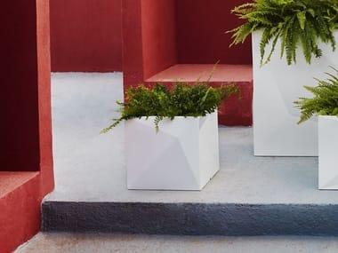 Square polypropylene planter with light FAZ | Square planter