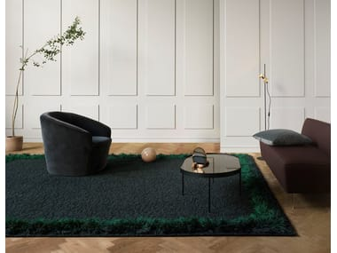 Handmade rectangular rug FEATHER | Rectangular rug
