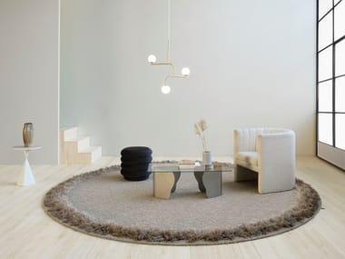 Handmade round rug FEATHER | Round rug
