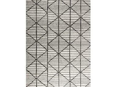Tappeto rettangolare in lana a motivi geometrici FEBE