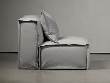 Upholstered armchair with removable cover FEDDE LIVING | Armchair