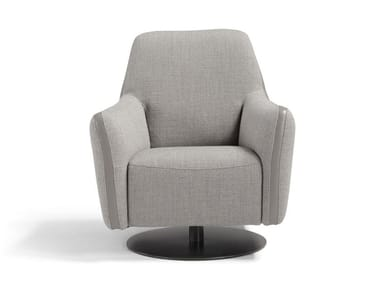 Swivel fabric armchair with armrests FELICITY | Armchair with armrests