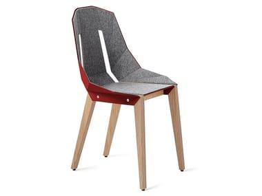 Sedia in alluminio verniciato a polvere in stile industriale per sale d'attesa FELT DIAGO