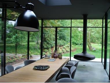 Porta-finestra a taglio termico in acciaio FERROFINESTRA W50 TT | Porta-finestra