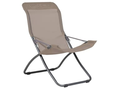Folding deck chair with armrests FIESTA XL
