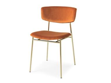 Upholstered velvet chair FIFTIES | Velvet chair