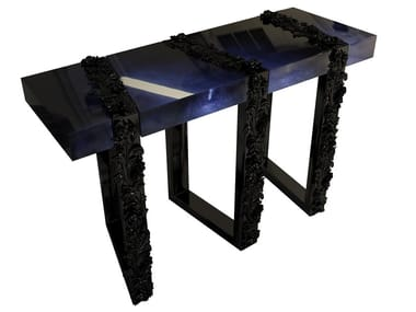 Lacquered rectangular wooden console table FIGEN   Console table