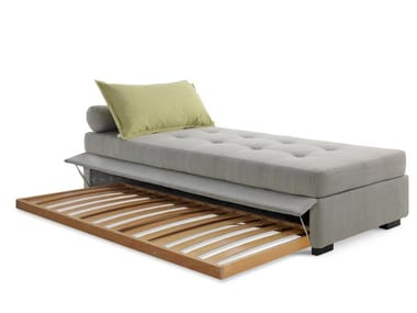 Upholstered fabric day bed with removable cover FIGI ISOLA ESTRAIBILE