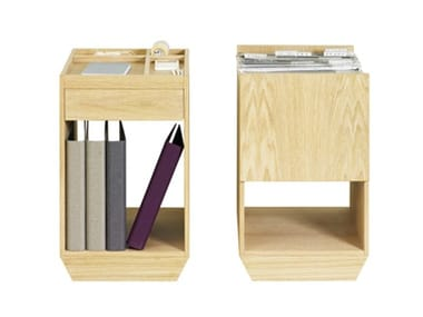 Wood veneer office drawer unit with castors FILE