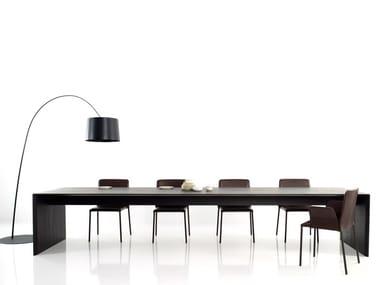 Rectangular wooden meeting table FILE XXL