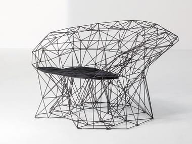 Steel armchair with armrests FILINEA