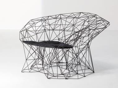 Steel armchair with armrests FILILINEA