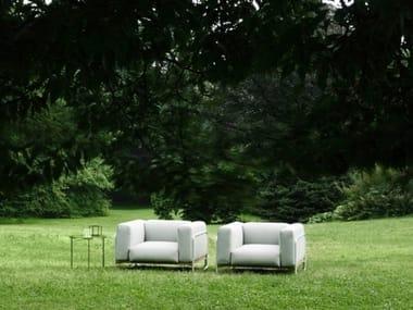 Sillón de jardín de tela con brazos FILO OUTDOOR | Sillón de jardín