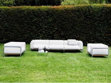 4 seater sofa with removable cover FILO OUTDOOR | Garden sofa