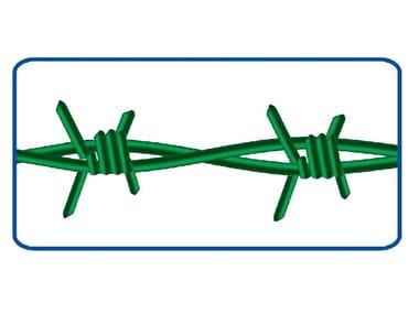 Filo zincato spinato 2 fili 4 punte FILO SPINATO | PLASTIFICATO STANDARD