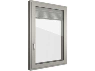 Aluminium and PVC window with built-in blinds FIN-90 Classic-line Twin N