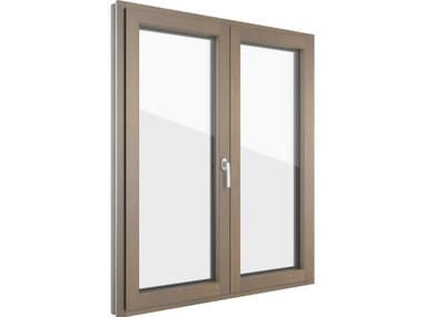 Aluminium and wood casement window FIN-LIGNA SLIM-LINE | Aluminium and wood window
