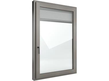 Casement window with built-in blinds FIN-Ligna Nova-line Twin PVC-Wood