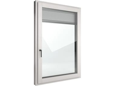 Wooden casement window FIN-Ligna Slim-line Twin PVC-Wood