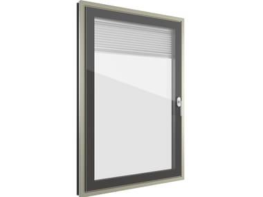 Aluminium window with built-in blinds FIN-PROJECT NOVA-LINE CRISTAL TWIN | Aluminium window