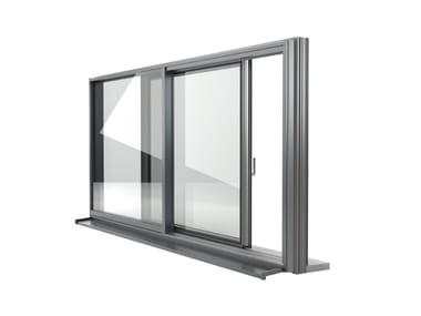 Aluminium and PVC sliding window FIN-SLIDE CLASSIC-LINE