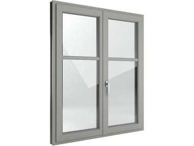 Finestra a battente di sicurezza in alluminio e PVC FIN-Window Slim-line Alluminio-PVC
