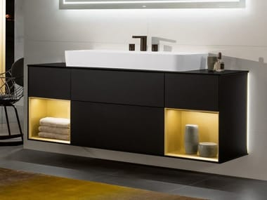 Lacquered wall-mounted vanity unit FINION | Vanity unit