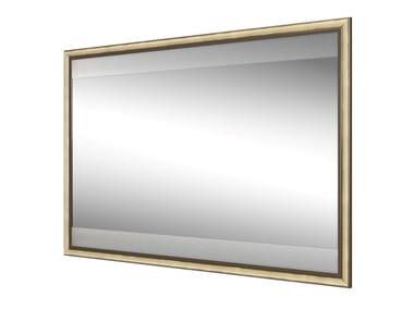 Espelho de metal com luzes integradas de parede para banheiro FINITOR
