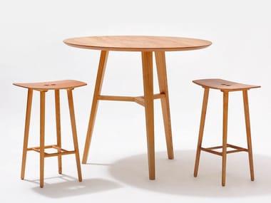 Tavolo alto in legno massello FINN | Tavolo alto