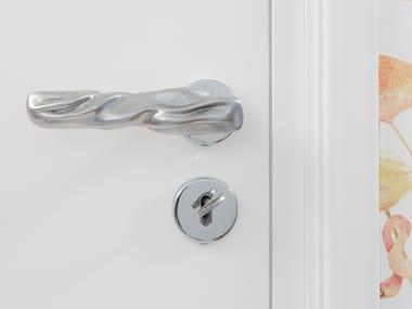 Aluminium door handle with lock FIOCCO
