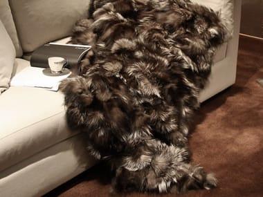 Plaid in pelliccia di volpe FIONA