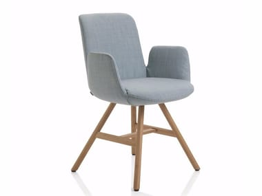 Sedia in tessuto con braccioli FIOR DI LOTO | Sedia con braccioli