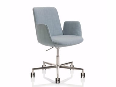 Height-adjustable task chair with 5-Spoke base with armrests FIOR DI LOTO | Task chair with 5-Spoke base