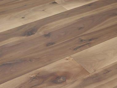 Brushed walnut parquet FIOR DI NODO