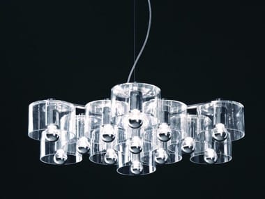 Blown glass pendant lamp FIORE - 433