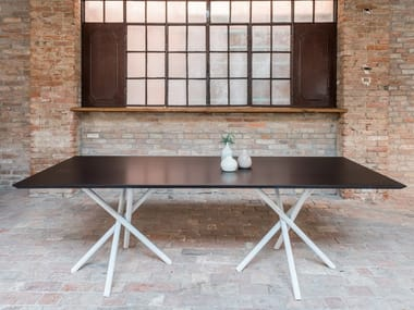 Rectangular galvanized steel table FIRE | Rectangular table