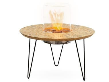 Tavolino con caminetto integrato FIRE TABLE ROUND