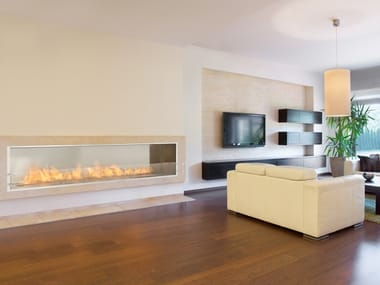 Bioethanol Glass and Stainless Steel Fireplace insert FIREBOX 2100SS