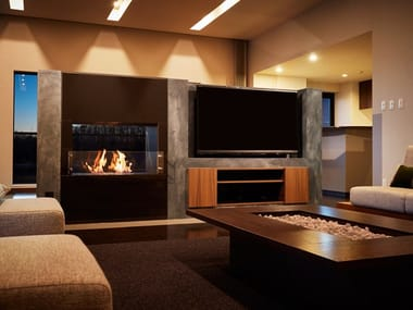 Bioethanol Double-sided stainless steel Fireplace insert FIREBOX 800DB