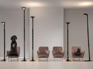 Lampada da terra a LED ad altezza regolabile in alluminio FIREMAN