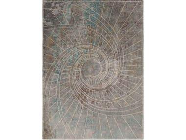 Handmade rectangular rug FIRENZE BLU NOTTE