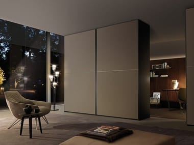 Etched glass wardrobe with sliding doors FIRST | Wardrobe with sliding doors