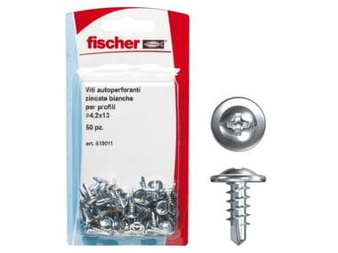 Viti autoperforanti zincate bianche FISCHER FPB K