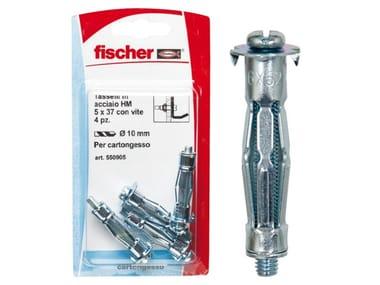 Tasselli in acciaio zincato con vite metrica FISCHER HM S K