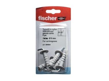 Tasselli in nylon con gancio corto FISCHER SBN 9/8 K