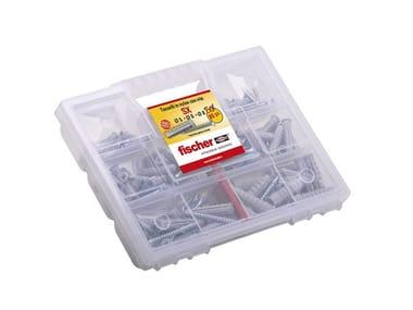 Tasselli e viti assortiti in valigetta FISCHER SX KIT 80PZ