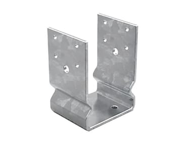 Portapilastro a U in acciaio zincato FISCHER XFBU