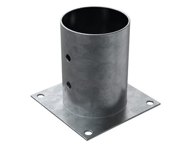 Portapilastro tondo in acciaio zincato a caldo FISCHER XFSC
